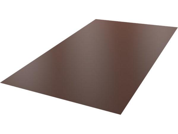 """Blacha płaska <span class=""""bez"""">1250x2000 mm</span>  RAL8017 PS #0,40 mm <span>(brąz połysk)</span>"""
